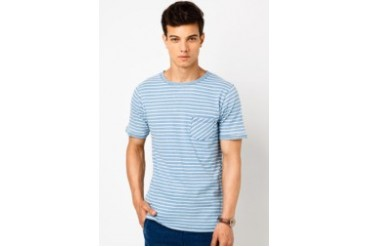 Indigo Yarn Dyed Stripe T-Shirt