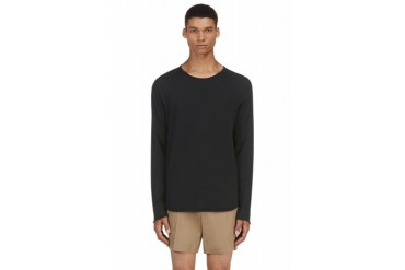 Rag And Bone Black Raw Edge T shirt