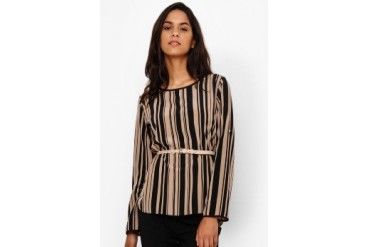 Accent Arlene Mocca Long Sleeves Blouse