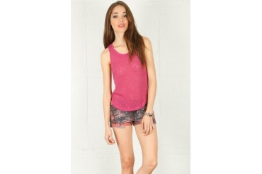 Knit Tank in Raspberry - designed by Lucca Couture