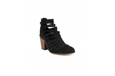 Free People 'Hybrid' Heel Bootie Black, 9