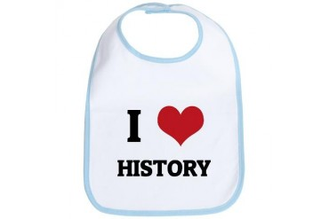 I Love History Hobbies Bib by CafePress