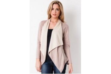 Now & Forever Two Tone Cardigan