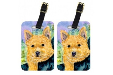 Pair of 2 Norwich Terrier Luggage Tags