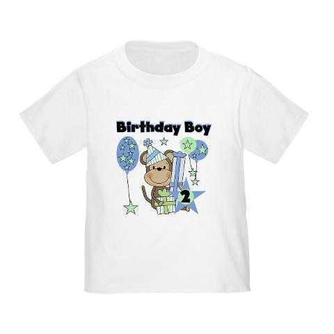 Monkey 2nd Birthday Toddler T Shirt