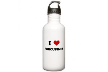 PORCUPINES.png Funny Stainless Water Bottle 1.0L by CafePress
