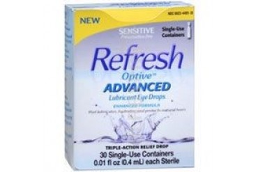 Refresh Optive Advanced Lubricant Eye Drops Sensitive30 Each