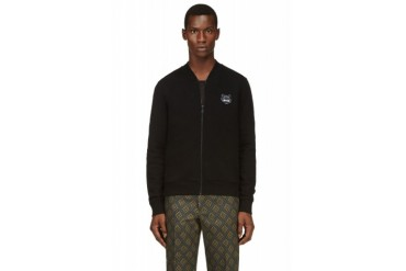 Kenzo Black Tiger Logo Zip Up Jungle Sweatshirt