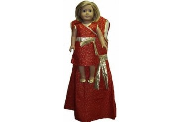 Matching Girl amp Doll Clothes Festive Dress Size 7