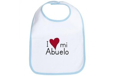I Love my Abuelo Baby / kids / family Bib by CafePress