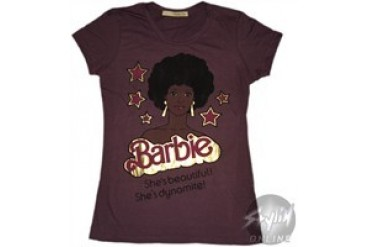 Barbie She's Beautiful She's Dynamite Baby Doll Tee by MIGHTY FINE