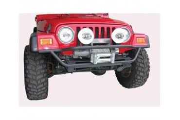 Olympic 4x4 Products A/T Slider Front Tube Bumper in Textured Black 174-124 Front Bumpers