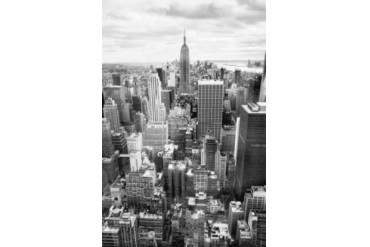 NYC Downtown Poster Print by Nina Papiorek (12 x 18)
