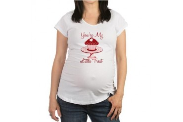 My Little Treat Holiday Maternity T-Shirt by CafePress
