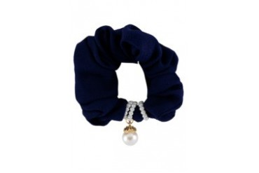 Scrunchie With Faux Pearls Embellishment