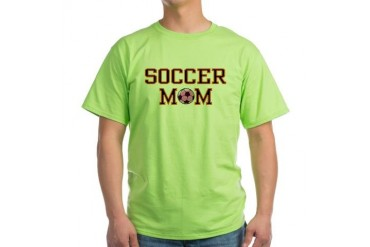 Soccer Mom Sports Green T-Shirt by CafePress