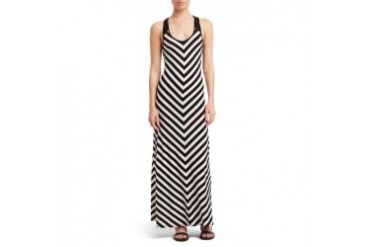 Jersey Racerback Striped Maxi Dress