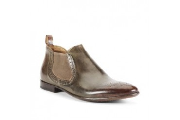 Wild Fox Burnished-Leather Wingtip Boot