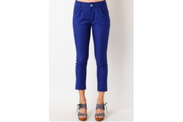 Voerin Long Blue Pants Spandex Biru