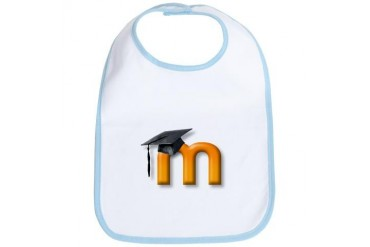 M Logo World Bib by CafePress
