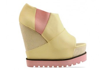 Senso Vendetta in Yellow Leather Pink Sole size 9.0