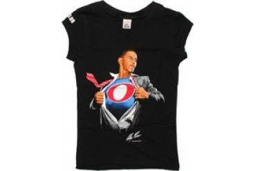 Barack Obama Super Obama Baby Doll Tee by Alex Ross