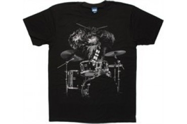 Star Wars Chewbacca on Drums T-Shirt Sheer