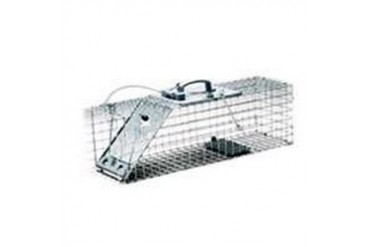 HAVAHART 1084 EASY SET ONE-DOOR CAGE TRAP FOR RABBITS, SKUNKS, MINKS AND LA