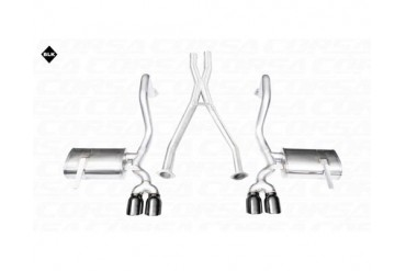 Corsa Black Xtreme Cat-Back XO Exhaust with 3.5 Inch Tips Chevrolet Corvette C5 Z06 5.7L V8 01-04