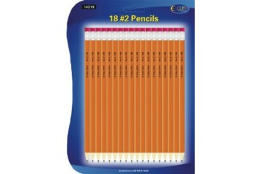 Ddi Pencils No. 2 - 18 Pack - Pre Sharpened. (pack Of 72)