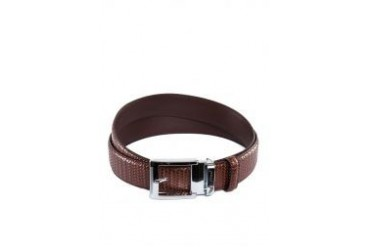 Polo Textured Weave Leather Belt