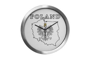 Poland Map With Eagle Polish Modern Wall Clock by CafePress