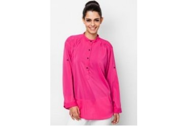 Ethnic Chic Ayu Long Sleeve Button Up Blouse