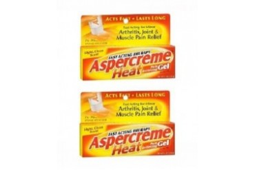 Aspercreme Heat Pain Relieving Gel Fast Acting 2 Tube Pack