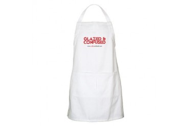 'GLAZED CONFUSED' BBQ Humor Apron by CafePress