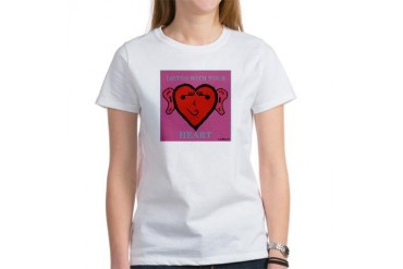 EarHeart Music Women's T-Shirt by CafePress