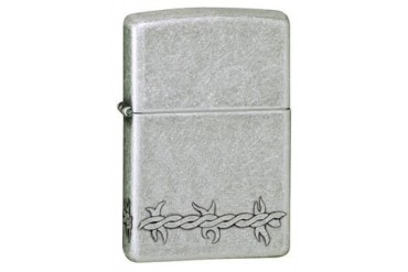 Barbed Wire Antique Silver Plate Zippo Lighter
