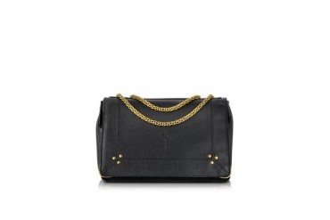Martin Black Grain Leather and Velvet Bag