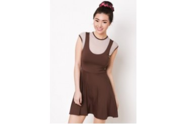 Blaire Dress with Matching Hair Ponytail