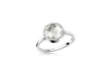 Florence - White Hydrothermal Stone Ring