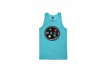 Mens Maui & Sons Tank Tops - Maui & Sons Cookie Logo Tank Top