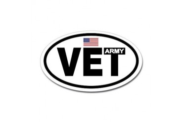 Army Veteran Oval Sticker