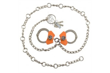 High Security Cuffs - Model 7003 Waist Chains W/Linked Cuffs