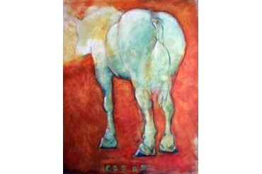 Horse Red Poster Print by Kate Hoffman (11 x 14)