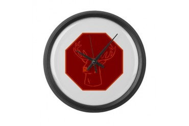 buck stops here Vintage Large Wall Clock by CafePress