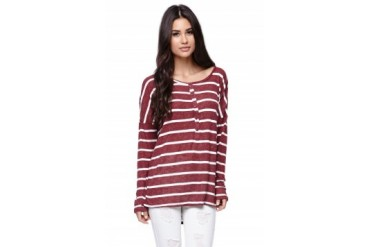 Womens Volcom Tees & Tanks - Volcom Long Sleeve Seven Days Top
