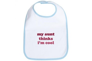 My Niece/Nephew is Cool Retro Bib by CafePress