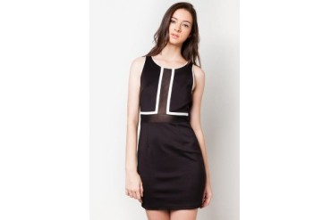 DressingPaula Knee Length Dress With Alternating Fabric