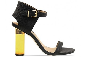 Senso Sasha in Black Yellow Plexi Heel size 7.0