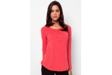 Heath L/S Slub Tee With Placket
